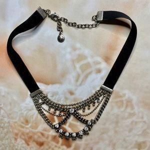 Bauble Bar Black Velvet Choker Necklace